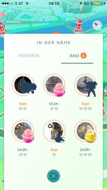 Tipp: Raid finden ©Niantic