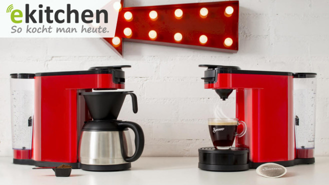 filter und pads 2 in 1 kaffeemaschine computer bild. Black Bedroom Furniture Sets. Home Design Ideas
