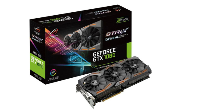 Asus ROG STRIX-GTX1080-8G-GAMING (8192MB) © Asus