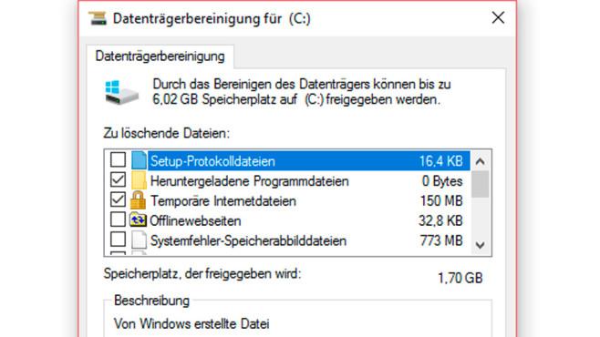 Datenträger bereinigen ©COMPUTER BILD