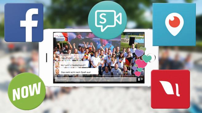 Auf Sendung: Live-Streaming-Apps im Test Auch die Redaktion von COMPUTER BILD sendet bei geeigneten Anlässen Live-Videos direkt bei . ©COMPUTER BILD