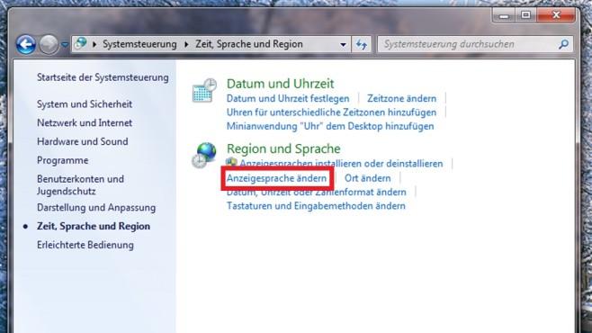 Windows 7 Ultimate: Per Systemsteuerung umstellen (2) ©COMPUTER BILD