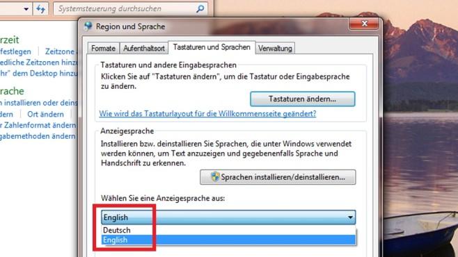 Windows 7 Ultimate: Per Systemsteuerung umstellen (3) ©COMPUTER BILD
