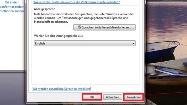 Windows 7 Ultimate: Per Systemsteuerung umstellen (4) ©COMPUTER BILD
