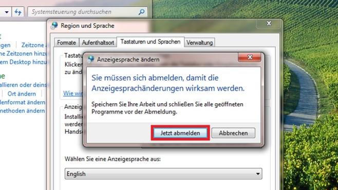 Windows 7 Ultimate: Per Systemsteuerung umstellen (5) ©COMPUTER BILD