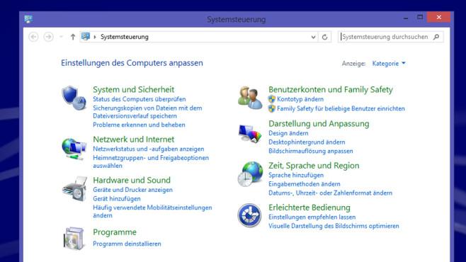 Windows 8.1/10: Systemsteuerung bemühen (1) ©COMPUTER BILD