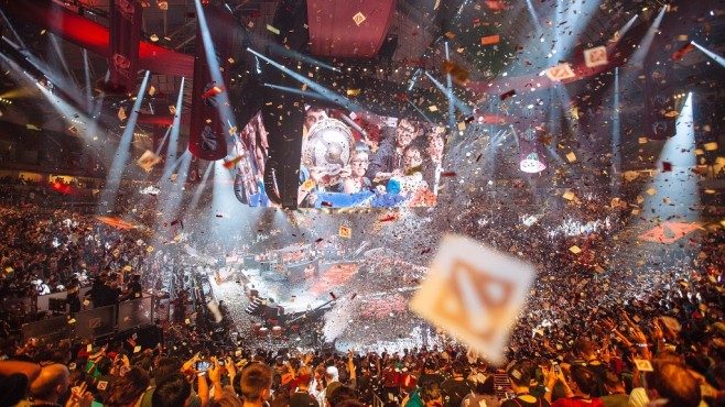 Feuerwerk The International 6 © Valve/Dota 2 The International