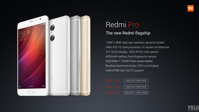 Smartphone Redmi Pro ©Xiaomi
