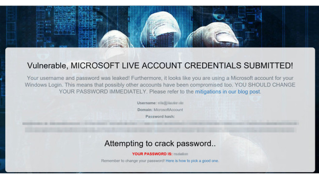 Microsoft-Hack ©COMPUTER BILD