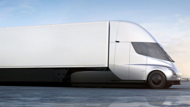Tesla Truck Semi: Teaser-Bild ©dpa Bildfunk