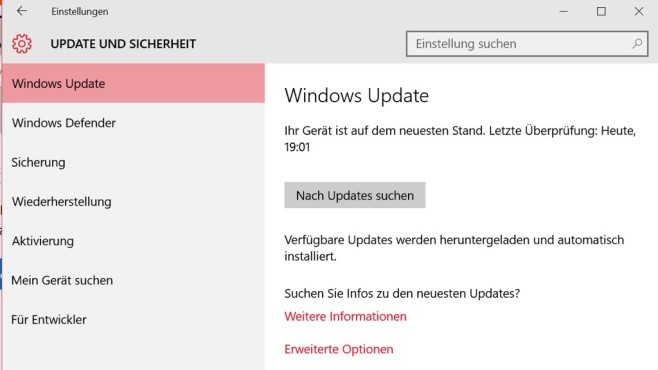 Anniversary Update nicht per Windows Update © COMPUTER BILD