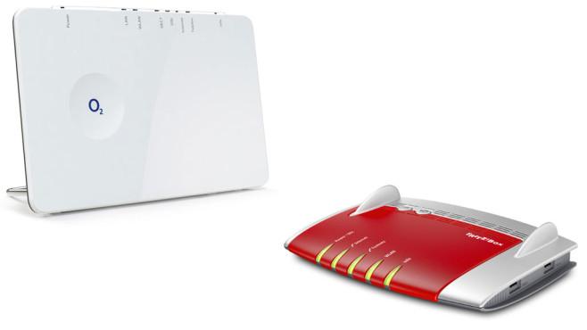 Router O2 Homebox und Fritz!Box 7490 ©O2-Telefónica