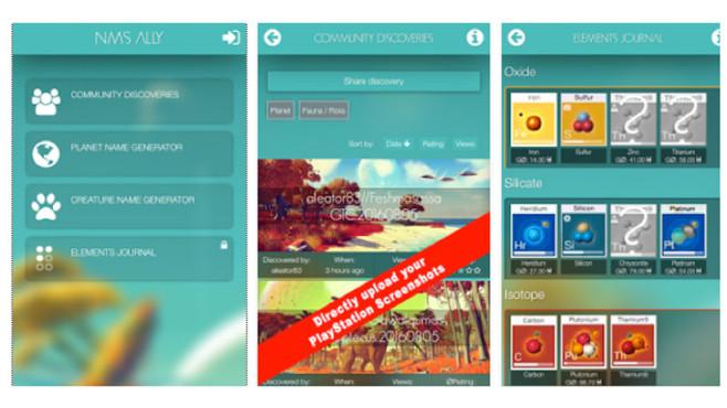 No Man's Sky: App ©Hello Games / Ideenwerkstatt Leis