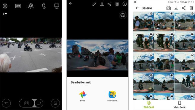 LG 360 Cam App ©COMPUTER BILD