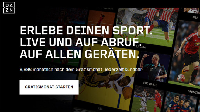 Screenshot Dazn © COMPUTER BILD