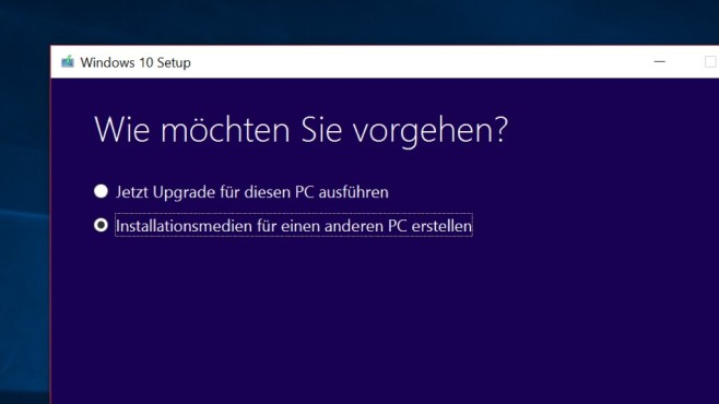 Windows 10 komplett laden © COMPUTER BILD