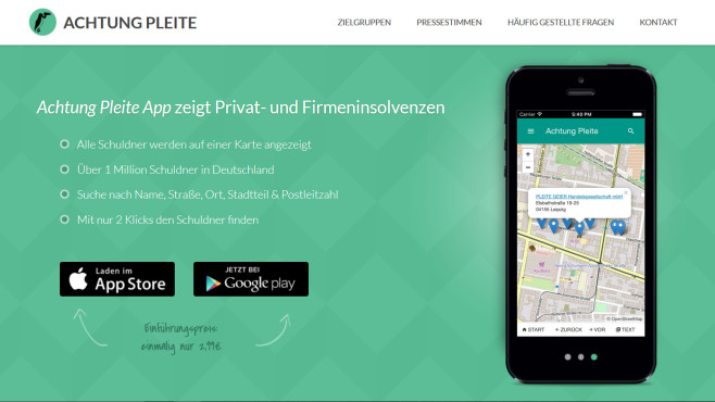 Screenshot Achtung Pleite ©Achtung Pleite