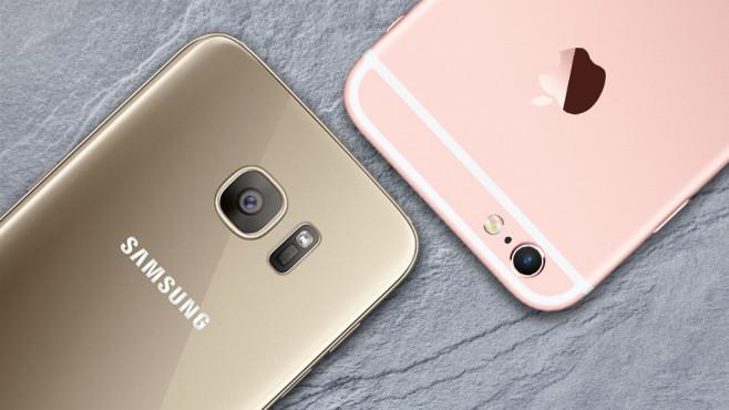 Apple vs. Samsung: Wer ist beliebter? ©Apple und Samsung
