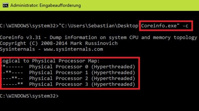 Anzahl der Prozessorkerne ermitteln ©COMPUTER BILD