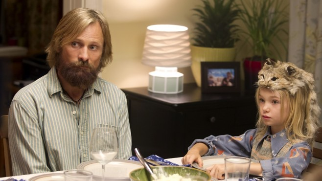 Szene aus Captain Fantastic: Viggo Mortensen, Shree Crooks © Universum Film
