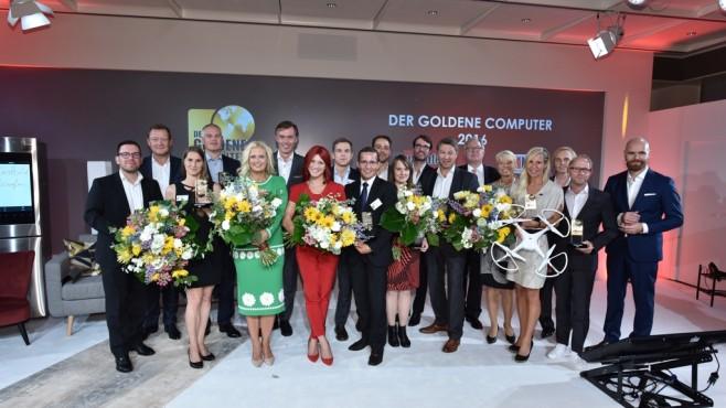 Alle Gewinner des Goldenen Computer 2016 ©Bildschön