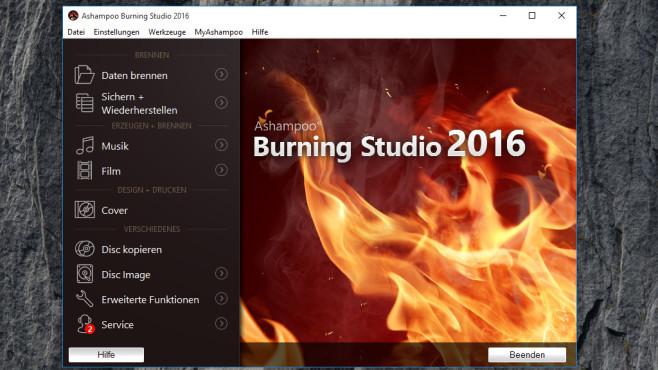 Platz 14: Ashampoo Burning Studio 2016 – Kostenlose Vollversion (neu) ©COMPUTER BILD
