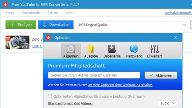Platz 18: Free YouTube to MP3 Converter (Vormonat: Platz 16) ©COMPUTER BILD