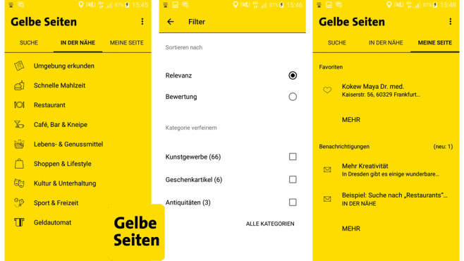 Gelbe Seiten ©Gelbe Seiten Marketing Gesellschaft mbH