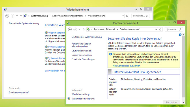 Backup – Windows 8 © COMPUTER BILD