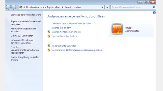 Benutzerkonten – Windows 7 ©COMPUTER BILD