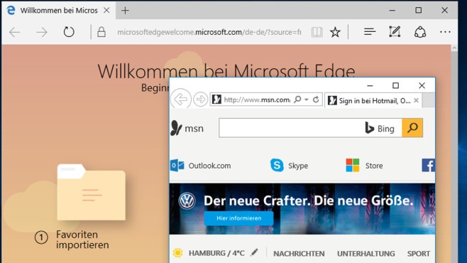 Browser – Windows 10 © COMPUTER BILD