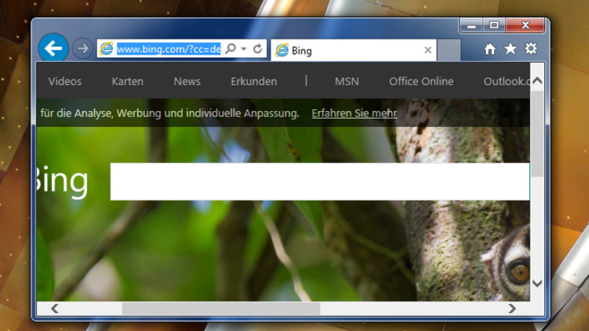 Browser – Windows 7 © COMPUTER BILD