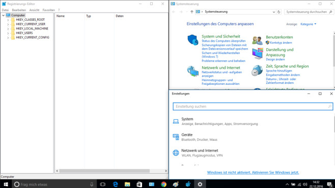 Einstellungen-Tools – Windows 10 © COMPUTER BILD