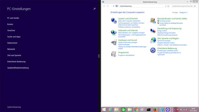 Einstellungen-Tools – Windows 8 ©COMPUTER BILD