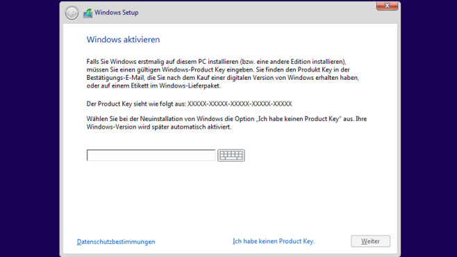 Installationsroutine – Windows 10 © COMPUTER BILD