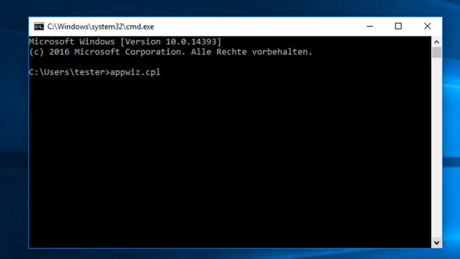Kommandozeile – Windows 10 © COMPUTER BILD