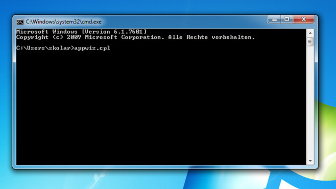 Kommandozeile – Windows 7 © COMPUTER BILD