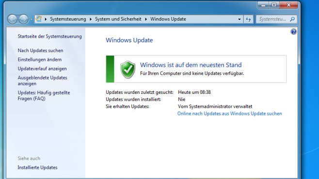 Update-Dialog – Windows 7 © COMPUTER BILD