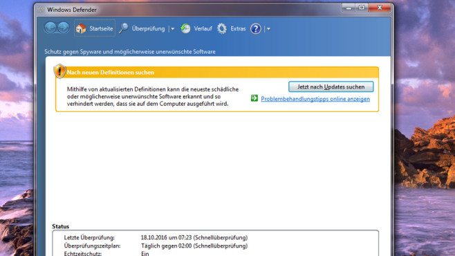 Windows Defender – Windows 7 © COMPUTER BILD