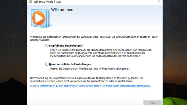Windows Media Player – Windows 10 ©COMPUTER BILD