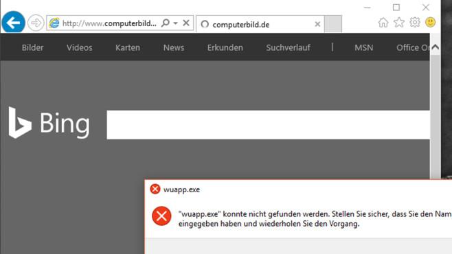 Defekter Internet-Explorer-Eintrag ©COMPUTER BILD
