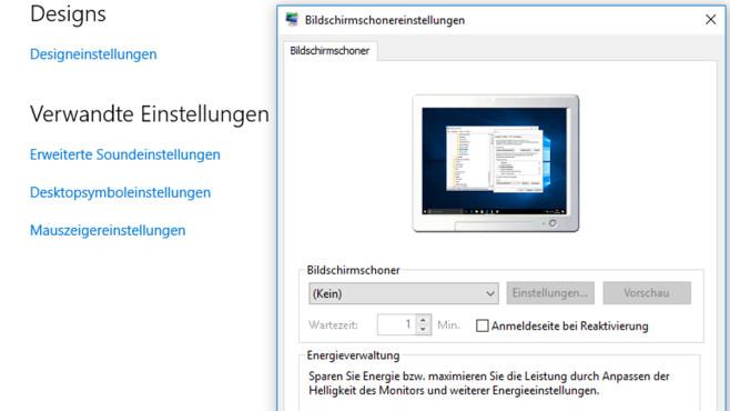 Desktopsymboleinstellungen nicht aufrufbar ©COMPUTER BILD