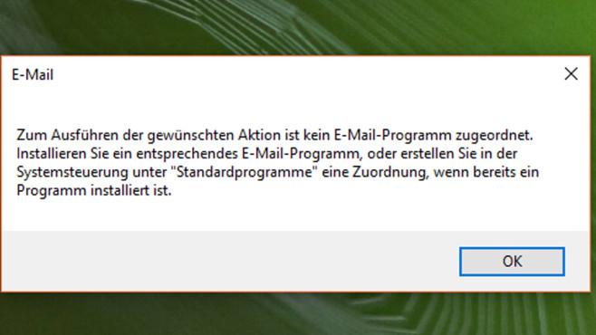 Unmöglich: Datei anhängen per Kontextmenü ©COMPUTER BILD