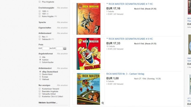 Ebay Comicauktion © Ebay