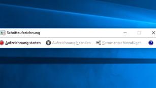 Verstecktes Windows-Tool schie�t Screenshots ©COMPUTER BILD
