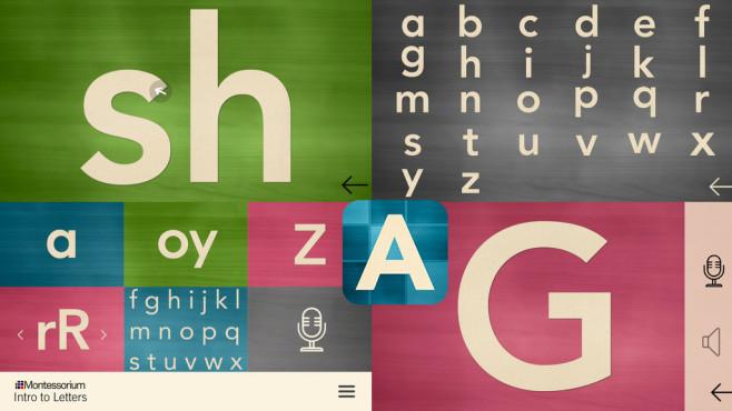Einführung in die Buchstaben ©Montessorium