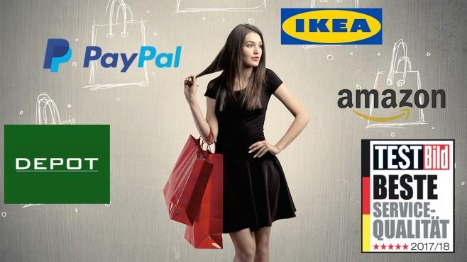 Test: Wer hat den besten Service Deutschlands? IKEA, PayPal, Amazon – TESTBILD hat über 2.500 Unternehmen, Dienstleister und Behörden auf Servicequalität getestet. Wer bietet den Kunden am meisten? ©IKEA, Startbucks, Amazon, PayPal, ra2 studio – Fotolia.com