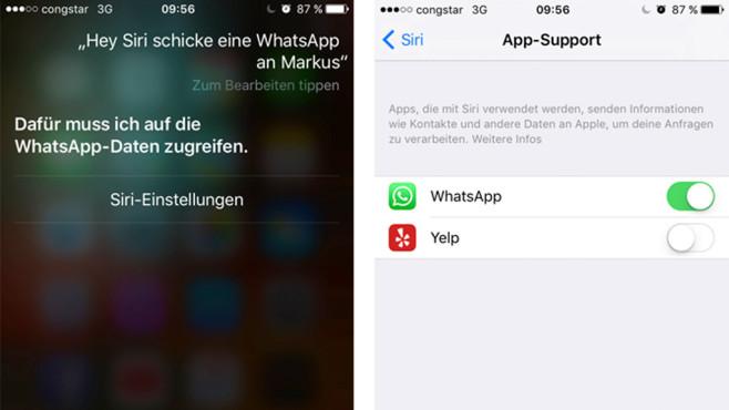 Siri Zugriff auf WhatsApp genehmigen ©COMPUTER BILD