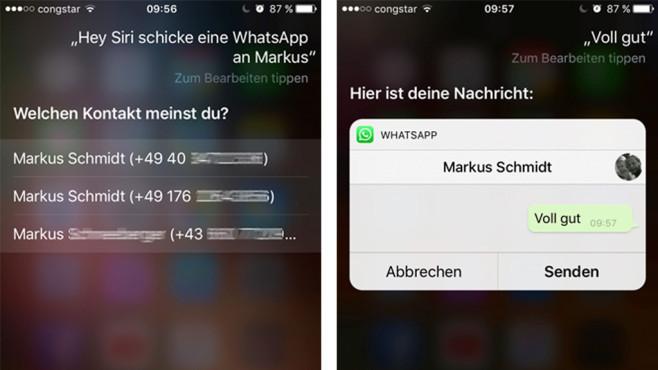 WhatsApp mit Siri steuern ©COMPUTER BILD