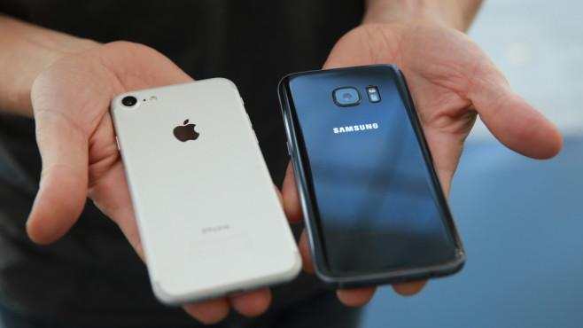iPhone 7 gegen Samsung Galaxy S7 ©COMPUTER BILD
